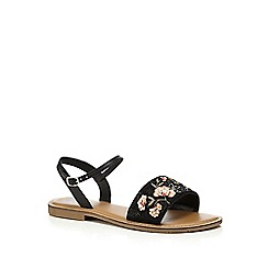 The Collection - Black ankle strap sandals