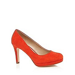 The Collection - Orange high wide fit court shoes