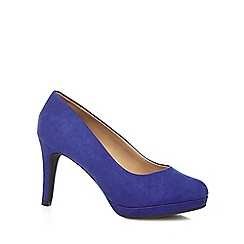 The Collection - Blue 'Cindy' high stiletto heel court shoes
