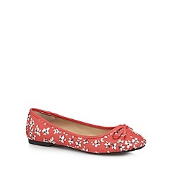The Collection - Dark orange 'carrie' wide fit ballet pumps