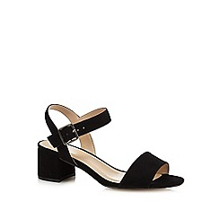 The Collection - Black 'Cadee' mid-heel sandals