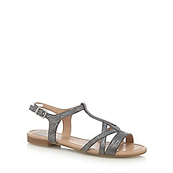 The Collection - Silver 'Capri' slingback sandals