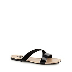 The Collection - Black 'Conour' sandals