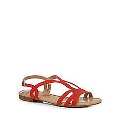 The Collection - Dark orange 'Charm' ankle strap sandals