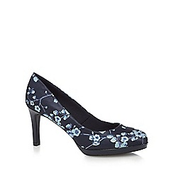 The Collection - Navy 'Callie' high stiletto heel court shoes