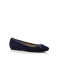 The Collection - Navy 'Ciara' ballet pumps