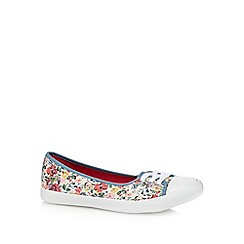 Mantaray - Multi-coloured floral print flat slip-on shoes