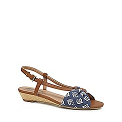 Mantaray - Tan 'Maisie' mid wedge heel slingback sandals