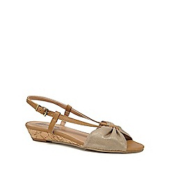 Mantaray - Tan 'Maisie' wedge heel sandals