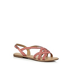 Mantaray - Red leather 'Molly' slingback sandals