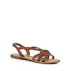 Mantaray - Tan leather 'Molly' slingback sandals
