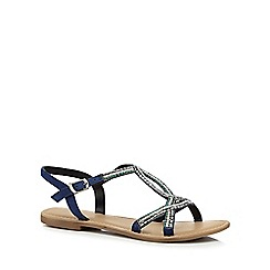 Mantaray - Blue 'Matilda' ankle strap sandals