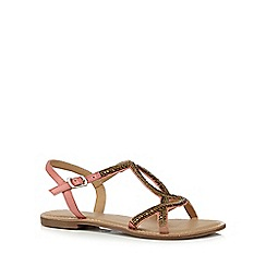 Mantaray - Pink 'Matilda' ankle strap sandals