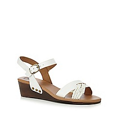 Mantaray - White 'Maddie' ankle strap sandals