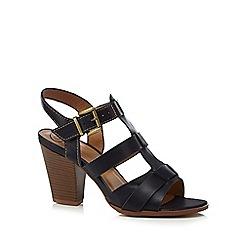 Mantaray - Navy 'Maddison' high heel gladiator sandals