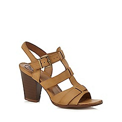 Mantaray - Tan 'Maddison' high heel gladiator sandals