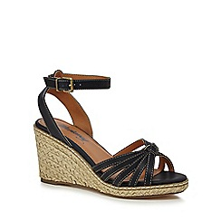 Mantaray - Navy 'Maria' high wedge heel espadrille sandals