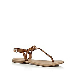 Mantaray - Tan suede 'Marissa' T-bar sandals