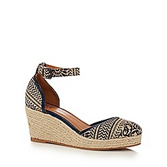 Mantaray - Tan 'Magical' high wedge heel espadrilles