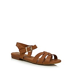 Mantaray - Tan 'Murtle' ankle strap sandals