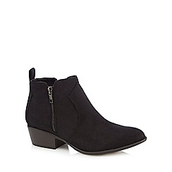 Red Herring - Black double zip ankle boots