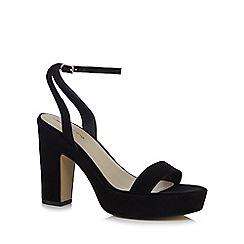 Red Herring - Black 'Hanson' high block heel ankle strap sandals