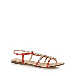 Red Herring - Orange 'Heaton' T-bar sandals