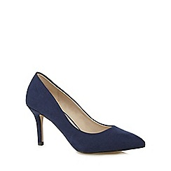 Red Herring - Navy high stiletto heel court shoes