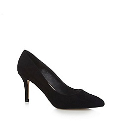 Red Herring - Black suedette 'Harriet' high stiletto heel pointed court shoes