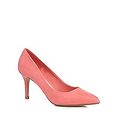 Red Herring - Coral high stiletto heel pointed shoes