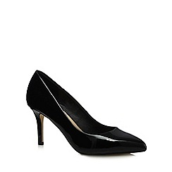 Red Herring - Black patent high stiletto heel court shoes