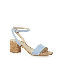 Red Herring - Light blue 'Hula' mid block heel ankle strap sandals