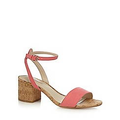 Red Herring - Pink 'Hula' mid block heel ankle strap sandals