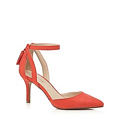 Red Herring - Red suedette high stiletto heel court shoes