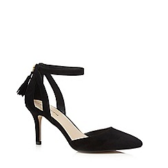 Red Herring - Black cut-out high court shoes
