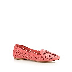 Red Herring - Coral cut-out pumps