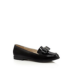 Red Herring - Black patent bow appliqué loafers