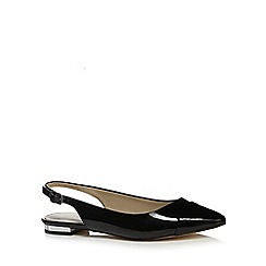 Red Herring - Black sling back patent shoes