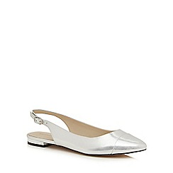 Red Herring - Silver sling back metallic shoes