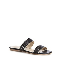 Red Herring - Black scalloped sandals