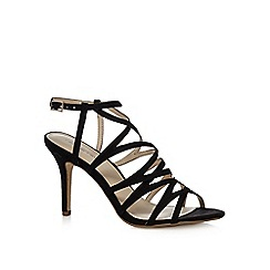 Red Herring - Black suedette strappy high stiletto heel sandals