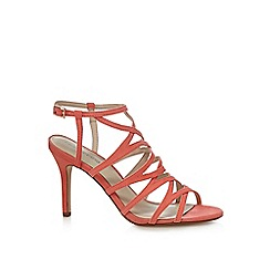 Red Herring - Orange suedette high stiletto heel sandals