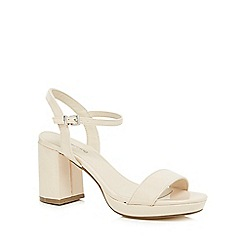 Red Herring - Cream patent high block heel ankle strap sandals