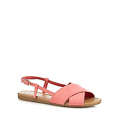 Red Herring - Coral suedette wide fit slingback sandals