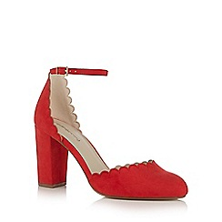 Red Herring - Red 'Hippie' high block heel court shoes