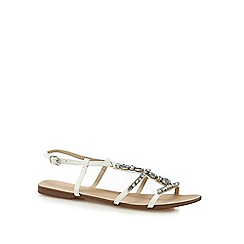 Red Herring - White 'Heaton' T-bar sandals