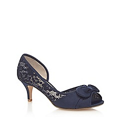 Debut - Navy 'Danielle' lace court shoes