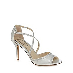 Debut - Silver diamante trim high sandals