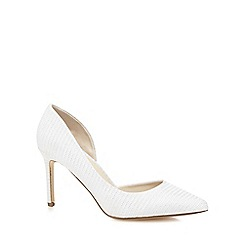 Debut - Silver glittery high court shoes