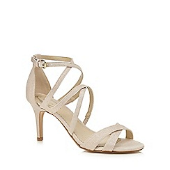 Debut - Pink 'Delia' high stiletto heel ankle strap sandals